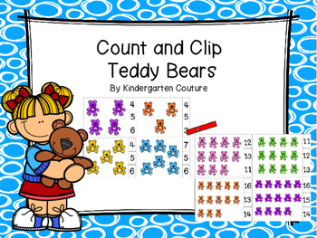 Count And Clip -Teddy Bears