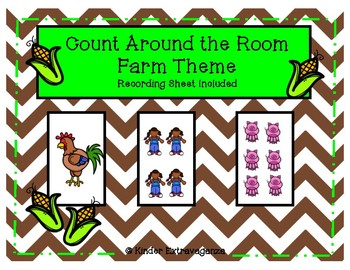 Count Around the Room Farm Theme 1-10