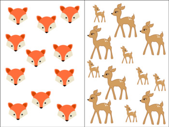 Count Around the Room: Forest Animals 10-20
