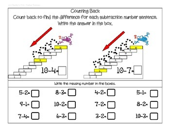 Count Back 1, 2, and 3: A Strategy for Subtraction.