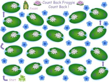 Count Back Froggie Math Center Game