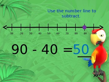 Count Back by Tens (Using a Number Line) Powerpoint