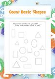 Count Basic Shapes (Visual Perception Worksheets)