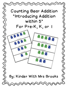 Adding within 5/Introducing Addition