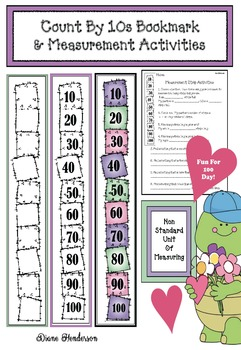 Count By 10s Bookmark & Measurement Activities