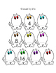 Count By 2s Halloween Monsters Rainbow Cut Out Puzzle Options 7pages