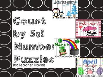 Count By 5s Puzzle Bundle