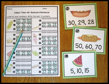 Count By Backyard Barbecue Task Card Activity