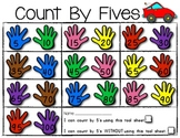 Count By Fives MATH POSTER plus Student Helper TOOL SHEET! (4 versions included)
