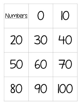 Count By Tens Flashcard Set FREEBIE