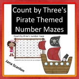 Count By Three's Pirate Themed Number Mazes