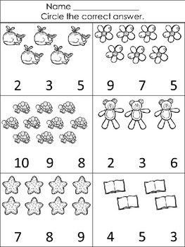 Count, Circle and Color Math Worksheets