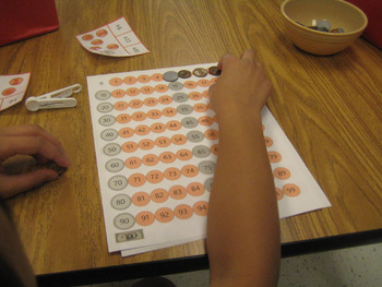 Count Coins 100 Chart With Bonus Mixed Coin Counting Cards