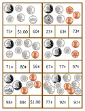 Count Coins To One Dollar Clip Cards