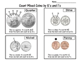 Count Coins by Fives and Ones