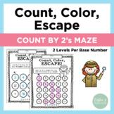 Count, Color, Escape! Count by 2's