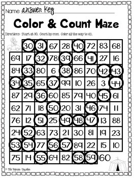 Count & Color Mazes {5 Worksheets}