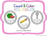 Count & Color Syllables - Common Core Aligned [RF.K.2b]