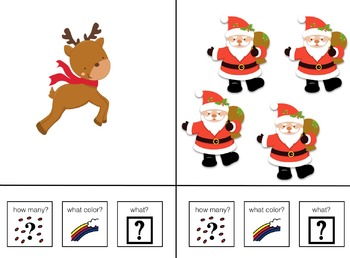 Count, Color and Name Christmas Adapted Book for Preschool and Kindergarten