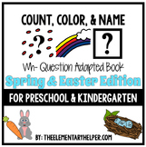 Count, Color and Name Easter Adapted Book for Preschool and Kindergarten