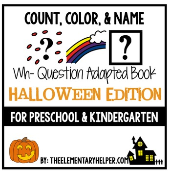 Count, Color and Name Halloween Adapted Book for Preschool and Kindergarten