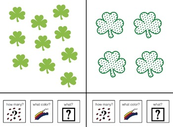 Count, Color and Name St. Patrick's Adapted Book for Preschool and Kindergarten