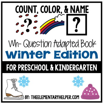 Count, Color and Name Winter Adapted Book for Preschool and Kindergarten