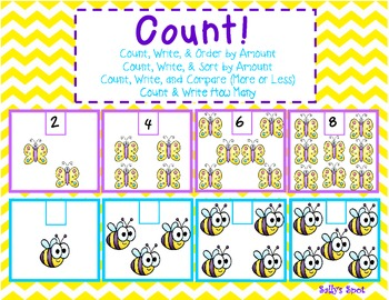 Count!      Count, Write, & Order by Amount     Count, Write, & Sort by Amount