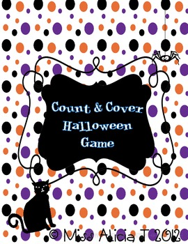 Count & Cover Halloween Math Center