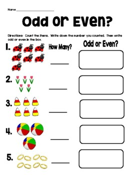 Count & Decide!  Odd or Even?
