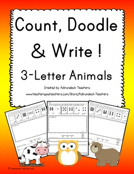 Count, Doodle and Write!  3-Letter Animals