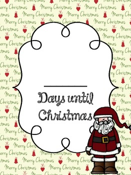 Count Down the Days to Christmas Poster