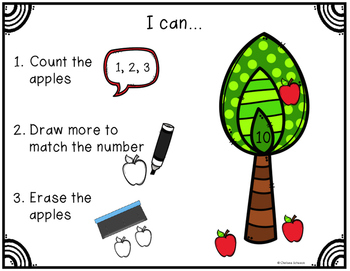 Count, Draw, & Wipe {Apple Themed}