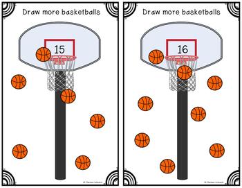 Count, Draw, & Wipe {Basketball Freebie}