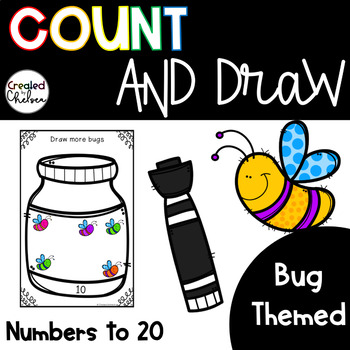 Count, Draw, & Wipe {Bug Themed}
