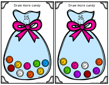 Count, Draw, & Wipe {Candy Themed}
