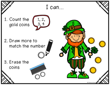Count, Draw, & Wipe {Gold Coin Themed}