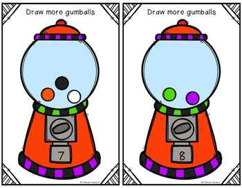 Count, Draw, & Wipe {Gumball Themed}