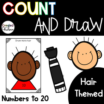 Count, Draw, & Wipe {Hair Themed}