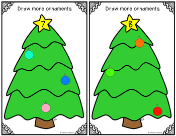 Count, Draw, & Wipe {Ornament Themed}