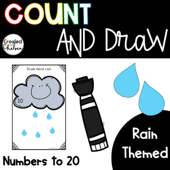 Count, Draw, & Wipe {Rain Themed}