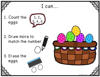 Count, Draw, & Wipe {Easter Egg Themed}