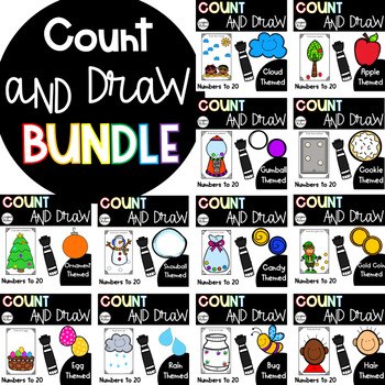 Count, Draw, & Wipe {Yearlong Bundle!}