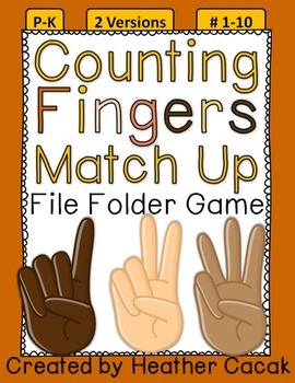 Counting Fingers Match Up File Folder Game {#1-10}