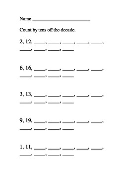 Count Forward by 1s and 10s