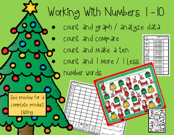 Count, Graph & Analyze, Compare, Number Words, 1 More/1 Less with NUMBERS 1 - 10