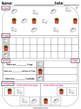 Count Graph Write Tally Compare Math Review