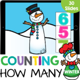 Count How Many Dots: Snowman Buttons up to 10 Kindergarten