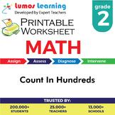Count In Hundreds Printable Worksheet, Grade 2