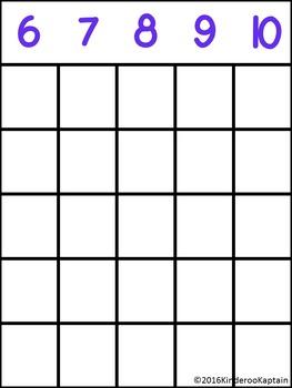 Count It! Subitizing Bingo 6-10